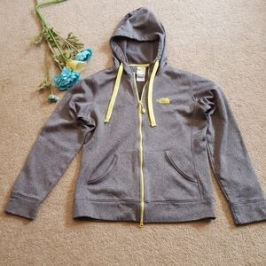 Women's North Face grey zip up jacket  size S